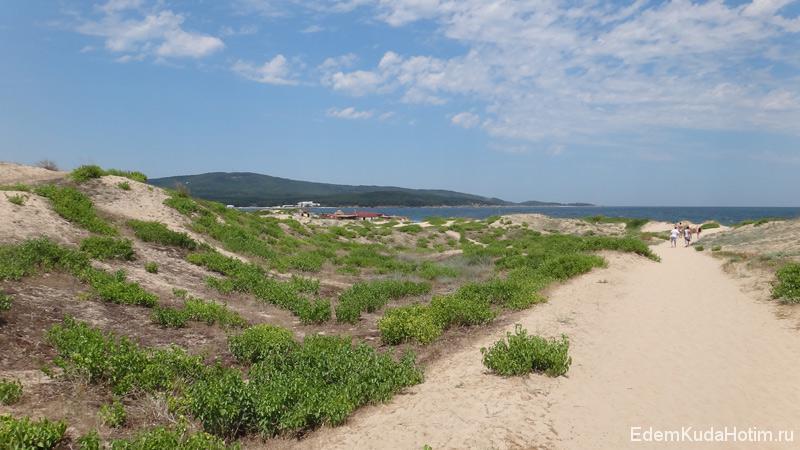 Песчаные дюны достигают высоты 19 метров, охраняются государством