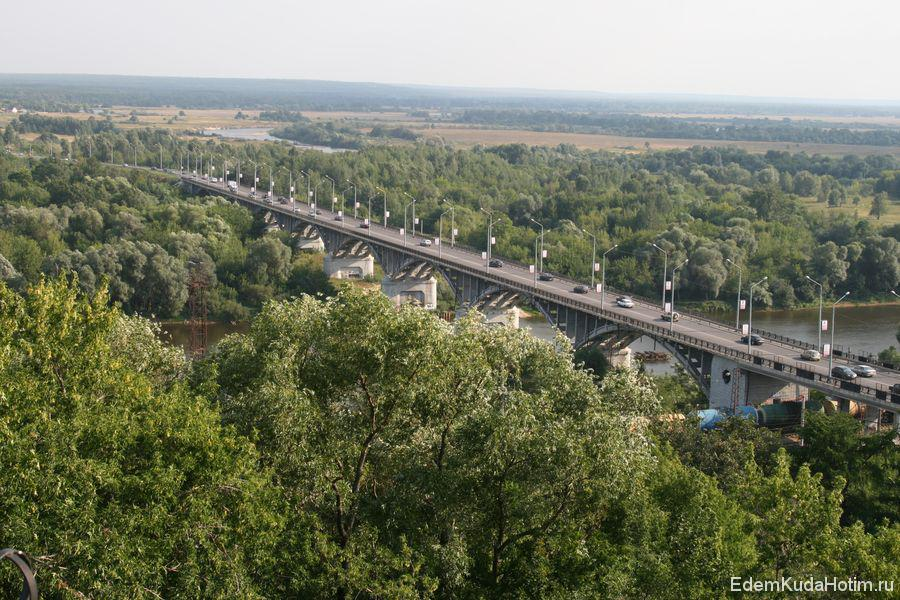 Автомобильный мост через Клязьму. По нему мы въехали во Владимир по дороге из Гуся-Хрустального