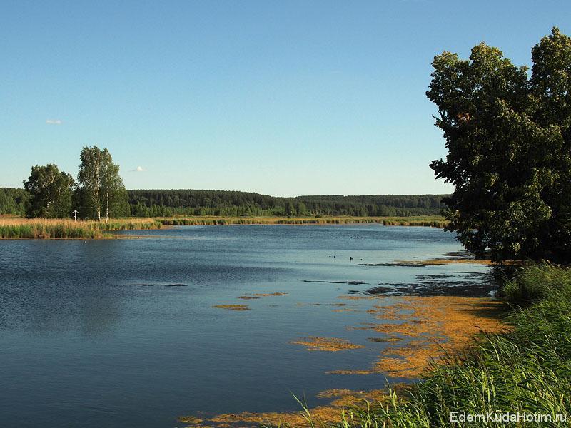 Озеро имеет сложную форму, наверняка в нем можно неплохо порыбачить!