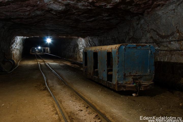 Главный штрек шахты