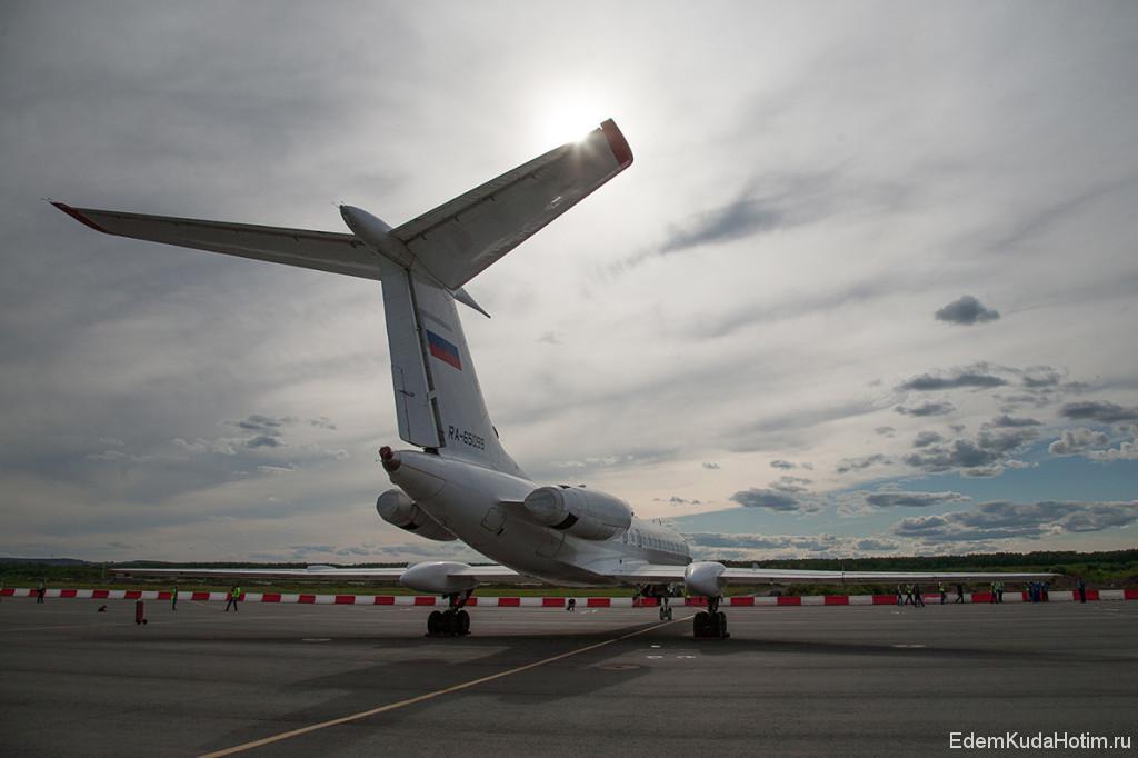 Ту-134, вид с хвоста