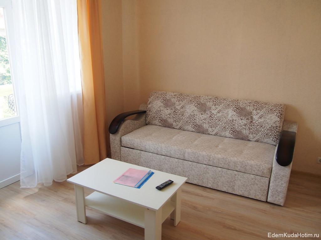 В другой комнате диван, который можно разложить