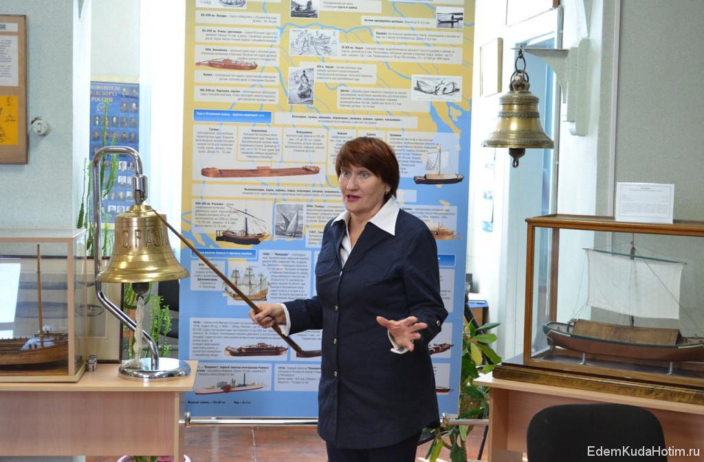 Галина Павловна рассказывает о том, какие суда раньше ходили по Волге и ее притокам
